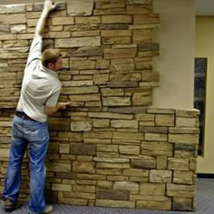 Site to purchase faux rock, brick or wood interior/exterior ...