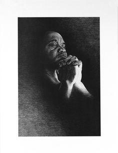 """A Man's Faith"" pencil drawing by Master Pencil artist John Nelson"