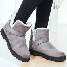 Womens boots winter 2017 new arrival old style wedges faux suede female boots short plush basic boot round toe shoes women Wedge Boots, Suede Ankle Boots, High Heel Boots, Heeled Boots, Shoe Boots, Women's Shoes, Dress Shoes, Flat Shoes, Dress Outfits