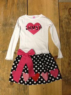 Girls Valentine Outfit. Twirly Skirt & by EverythingSorella