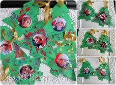 paper tree photo ornaments
