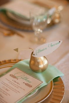 Simply By Tamara Nicole: Seattle Weddings: {Enchanted Mint and Gold . . . Part 2: Champagne & Table Decor}