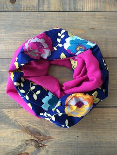 Floral Infinity Scarf by KutKloth on Etsy