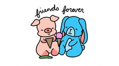 Cartoon pig Hamilton is not your typical pig baby, he is very clumsy but he is always very thankful to have his best friend the little fluffy bunny rabbit Eleanor by his side for times like this! Cartoon Pig, Cute Cartoon, Teacher Images, Kawaii Pig, Unlikely Friends, Bunny Drawing, Fluffy Bunny, Mini Pigs, Cute Piggies
