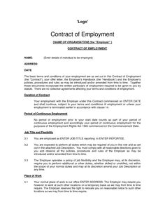 Domestic Servant Employment Contract Paper