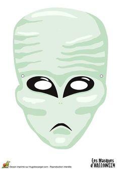 Masque d'extraterrestre pour Halloween