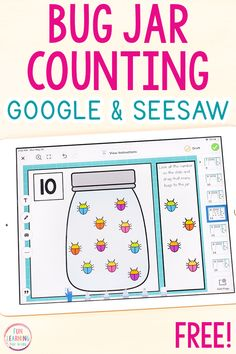 A free counting activity for Google Slides and Seesaw. Students will practice counting from 1-20 while interacting with virtual bug manipulatives. A fun bug theme math activity for preschool and kindergarten! Kindergarten Activities, Classroom Activities, Preschool Activities, Classroom Tools, Preschool Printables, Teacher Tools, Music Classroom, Google Classroom, Learn To Count