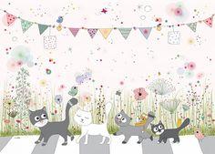 Affiche Chats, illustration pour enfant - Amélie Biggs Laffaiteur