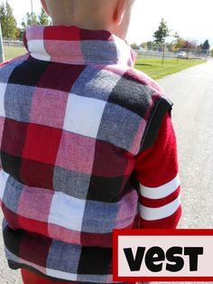 DIY puffer vest