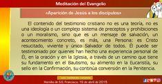 """MISIONEROS DE LA PALABRA DIVINA: MEDITACIÓN DEL EVANGELIO - """"Aparición de Jesús a l..."""