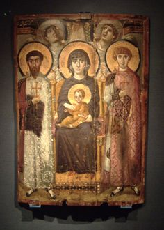 """Ancient icon of the Theotokos (Virgin Mary, the """"God-bearer"""") Picture of St. Catherine's Monastery, Sinai"""