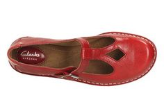 8d66ff9ad Buy Clarks Women s Tustin Talent Leather Mary Jane Flats - Red from Allsole.
