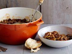 Infineon Raceway Baked Beans Recipe : Guy Fieri : Food Network - FoodNetwork.com