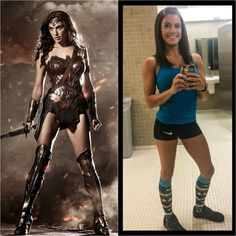 Left is the new Wonder Woman. Being deemed still too skinny and frail. Right is Kacy Catanzaro, the first female to advance to the finals of American Ninja. Considered strong and...