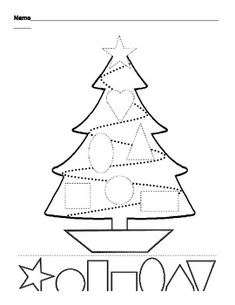 Fun educational christmas activities children printable learning toddlers shapes and colors worksheet free esl worksheets made Christmas Tree Cutting, Noel Christmas, Christmas Crafts For Kids, Christmas Themes, Winter Christmas, Holiday Crafts, Holiday Fun, Christmas Tree Template, Christmas Events