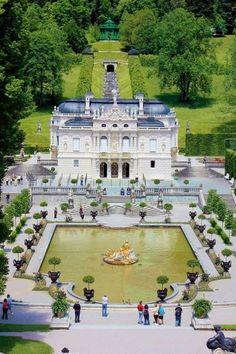 Schloss Linderhof (castle) Bavaria, Germany; Bayern, Deutschland