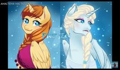 Elsa and Anna are ponies!!