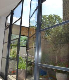 Crittall Steel door screen with opening fanlights by Lightfoot Windows (Kent) Ltd