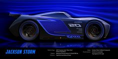 Dive under the hood of Jackson Storm, a sleek new rival for Lightning McQueen who debuts in Disney-Pixar& Cars in theaters June Disney Pixar Cars, Disney Movies, Lightning Mcqueen, Chevrolet Corvette, Cars 3 Poster, Movie Posters, Jackson Storm, Cars 3 Characters, Film Cars