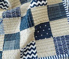 navy + parchment baby quilt... | s.o.t.a.k handmade | Bloglovin'