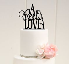 Hey, I found this really awesome Etsy listing at https://www.etsy.com/listing/222933714/a-reel-love-fishing-wedding-cake-topper