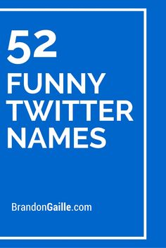 52 Cute and Funny Twitter Names