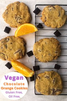 Soft chunky cookies that have crispy edges and soft centres. Bursting with the delicious combination of chocolate and orange. These vegan chocolate orange cookies are gluten free too.
