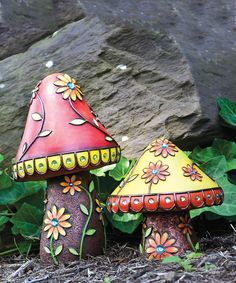 Take a look at this Jeweled Mushroom Figurine Set on zulily today!
