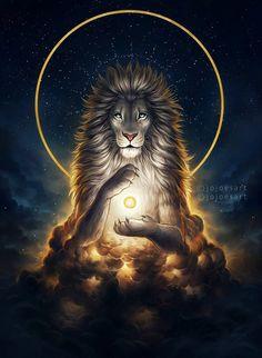 Soul Keeper - Signed Fine Art Giclee Print - Wall Decor - Fantasy Lion - Painting by Jonas Jödicke - malerei - Animals Fantasy Kunst, Fantasy Art, Lion Love, Lion Painting, Lion Wallpaper, Lion Pictures, Leo Lion, Lion Of Judah, Lion Art