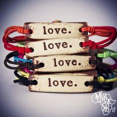 mudlove bands! I just bought myself 7 of them! benefit the world while you benefit your wrists :)