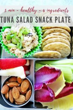 Take your lunch on-the-go with this classic and healthy tuna salad snack plate! This basic lunch has every component you need for an EASY, low-carb lunch that will keep you full until dinner. Prep in just 5 minutes with simple ingredients including celery, canned tuna, mayo, and onions. Check out the full recipe today! Healthy Meals For Kids, Healthy Dinner Recipes, Healthy Snacks, Snack Recipes, Tuna Mayo, Healthy Tuna Salad, Low Carb Lunch, Lunchbox Ideas, Lunch To Go