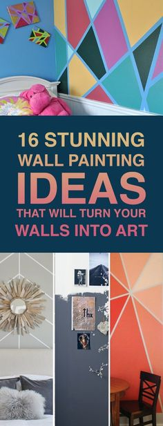 Walls can change how the room looks dramatically and sticking with traditional white walls can sometimes make the room boring. Take a ride through these awesome wall painting ideas to inspire your next room transformation.