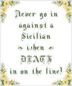 Princess Bride Cross Stitch Pattern. Death is on by CrickettsHouse, $1.99