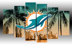 High quality canvas prints from Geek Paintings, designed by talented artists all over the world. Football Rooms, Nfl Football Teams, Sports Teams, City Ballet, Miami Dolphins, Wood Crafts, Man Cave, Moose Art, Canvas Prints