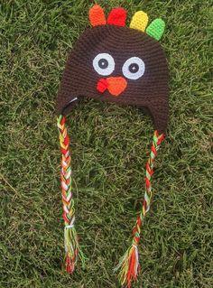 Knit Turkey Beenie Hat
