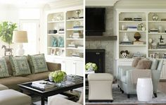 coffee table & book  shelf styling by Wifemomstudent