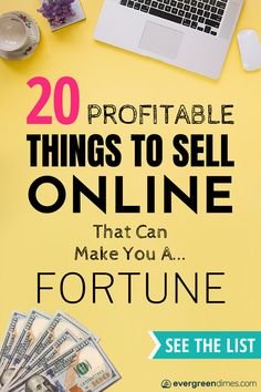 Can't figure out what to sell to make money online? I feel your pain. But cheer up, because this epic list will show you the best things to sell to make extra cash online. It's perfect for beginners… What Can I Sell, What To Sell Online, Make Money Online, Online Check, Things To Sell Online, Sell Items Online, Make Money Fast, Make Money From Home, Business Tips