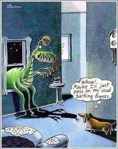 Smart doggy - Far Side Dachshund Cartoons