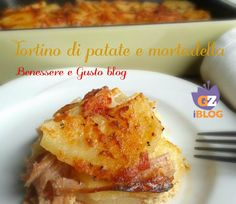 Tortino di patate e mortadella