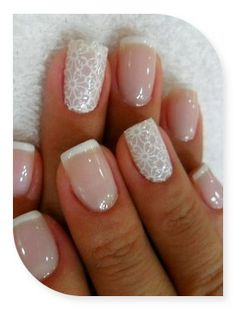 wedding nails I like these because I think the are suttle and glamorous at the same time perfect co a wedding xx.