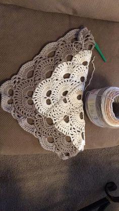 Triangle Shawl using Caron Cakes yarn