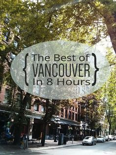 Passing through Vancouver, Canada on your cruise? Starting or ending your vacation here? Check out this guide to the best of Vancouver in 8 hours. Vancouver Island, Vancouver Travel, Vancouver Vacation, British Columbia, Alaska Travel, Canada Travel, Canada Trip, Alaska Trip, Visit Canada
