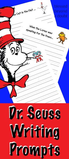 These Free Dr Seuss Writing Prompts Are Perfect To Get The Reluctant Writer To Enjoy