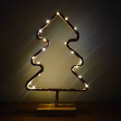 Christmas tree upcycled copper pipe lamp decoration with led lights Pipe Lamp, Upcycle, Copper, Table Lamp, Christmas Tree, Led, Lights, Studio, Decoration