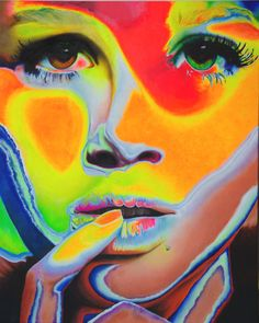 "Original Painting ""Stay"" Acrylic, portrait, psychedelic, female, portraiture, modern, abstract"