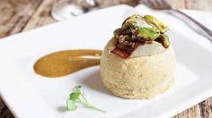 """pistachio custard   Pistachio Custard """"Sformato"""" with Artichokes"""