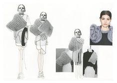 Fashion Sketchbook - fashion illustrations & knitwear design development; fashion portfolio // Sophie Bateson