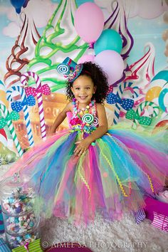 Candyland tutu dress-Candy land tutu dress- candy land party birthday dress Candyland tutu dress-Can Candy Land Party, Candy Theme Birthday Party, Candy Land Theme, 1st Birthday Parties, Girl Birthday, Birthday Tutu, Candyland, Candy Costumes, Halloween Disfraces