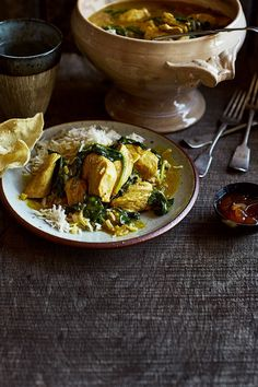 Chicken and spinach coconut curry
