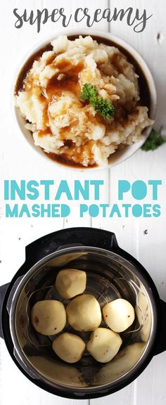 These are seriously the creamiest mashed potatoes EVER, thanks to the instant pot - without any oil, butter, or cream! Totally vegan and healthy. via @karissasvegankitchen